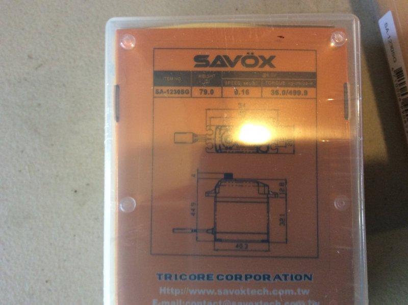 Image 2 of Lot of (4) SAVOX 1230SG with (4) SWB arms NIB PLUS more free stuff