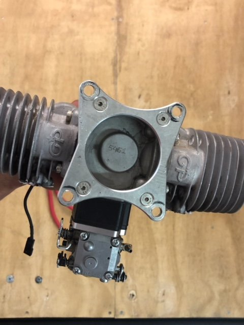 Image 2 of GP 123 Gasoline aircraft engine V2 complete, mufflers & ignition
