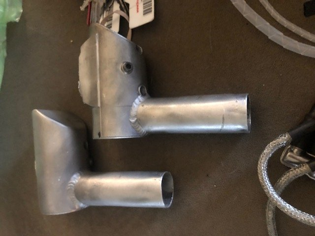 Image 3 of GP 123 Gasoline aircraft engine V2 complete, mufflers & ignition