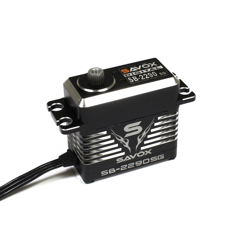 Image 5 of Savox 2290SG Monster Torque Brushless Servo, Black  0.11sec / 902.7oz @ 8.4V