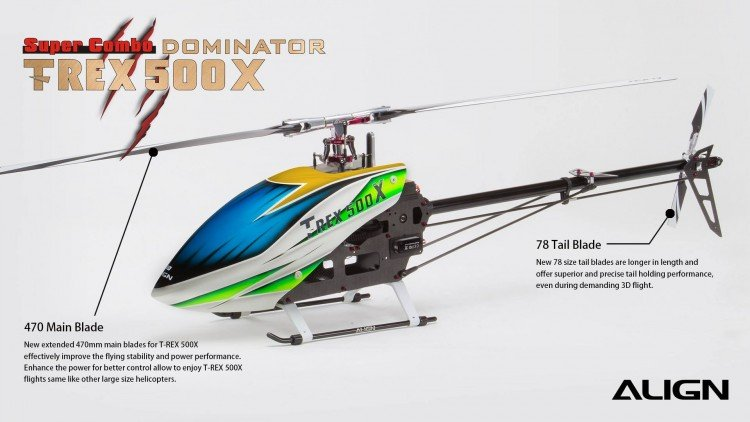 Image 9 of Align T-Rex 500X Dominator Super Combo Helicopter with DS530/DS535 Servos