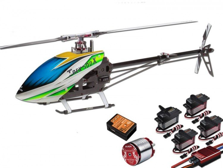 Image 0 of Align T-Rex 500X Dominator Super Combo Helicopter with DS530/DS535 Servos