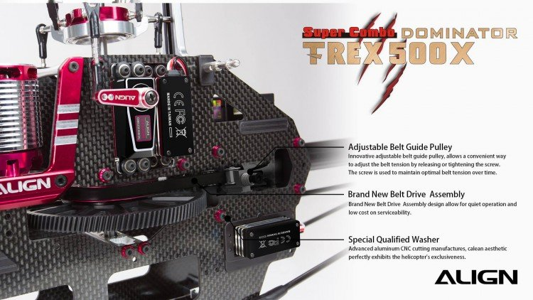 Image 2 of Align T-Rex 500X Dominator Super Combo Helicopter with DS530/DS535 Servos