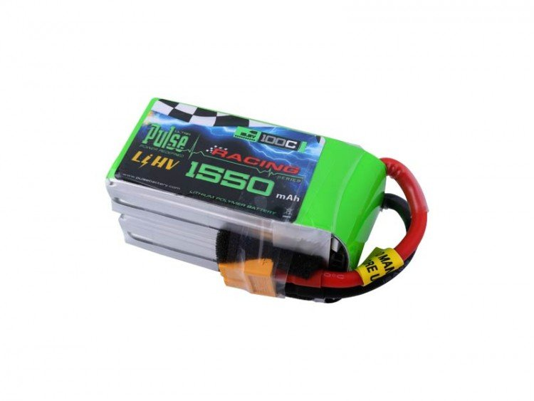 Image 1 of PULSE 1550mah 4S 15.2V 100C - LiPo Battery With Removable Balance Wires