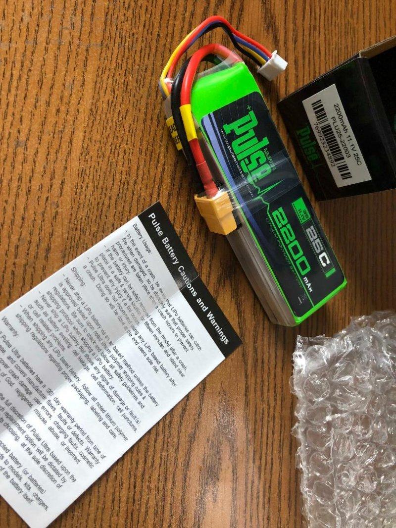 Image 2 of PULSE 2200mAh 3S 11.1V 25C LiPo Battery