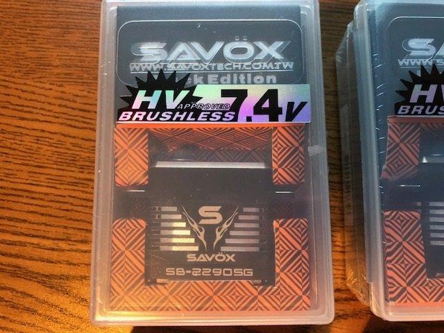 Image 1 of Savox 2290SG (2) & 1270TG (2) FREE SWB arms & FREE Priority mail shipping