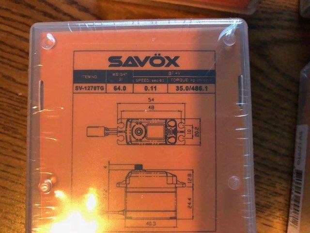 Image 4 of Savox 2290SG (2) & 1270TG (2) FREE SWB arms & FREE Priority mail shipping