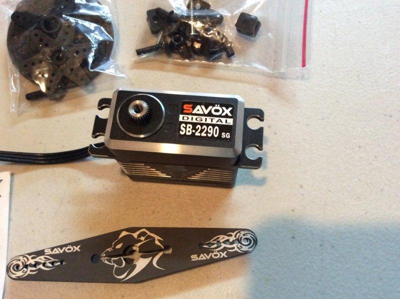 Image 11 of Savox 2290SG Monster Torque Brushless Servo, Black Edition .13sec / 694.4oz 7.4
