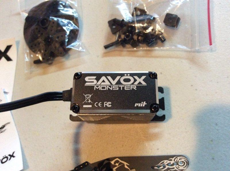 Image 13 of Savox 2290SG Monster Torque Brushless Servo, Black Edition .13sec / 694.4oz 7.4