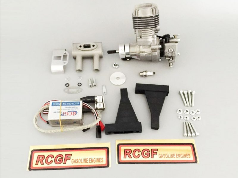 Image 2 of RCGF 20cc RE Rear exhaust 1 FREE bottle Red Line oil
