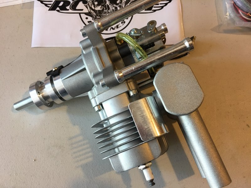 Image 2 of RCGF 35cc RE Rear exhaust & Rear carb aircraft eng. 1 FREE bottle Red Line oil