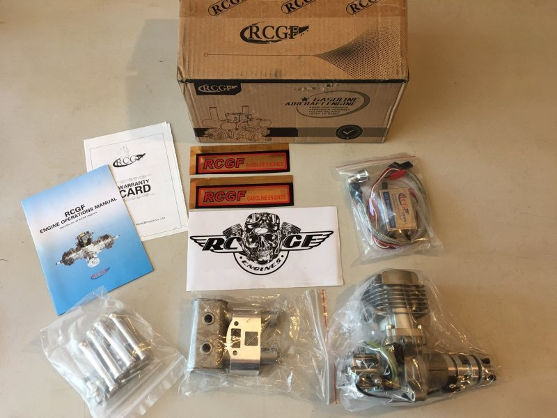 Image 0 of RCGF 35cc RE Rear exhaust & Rear carb aircraft eng. 1 FREE bottle Red Line oil