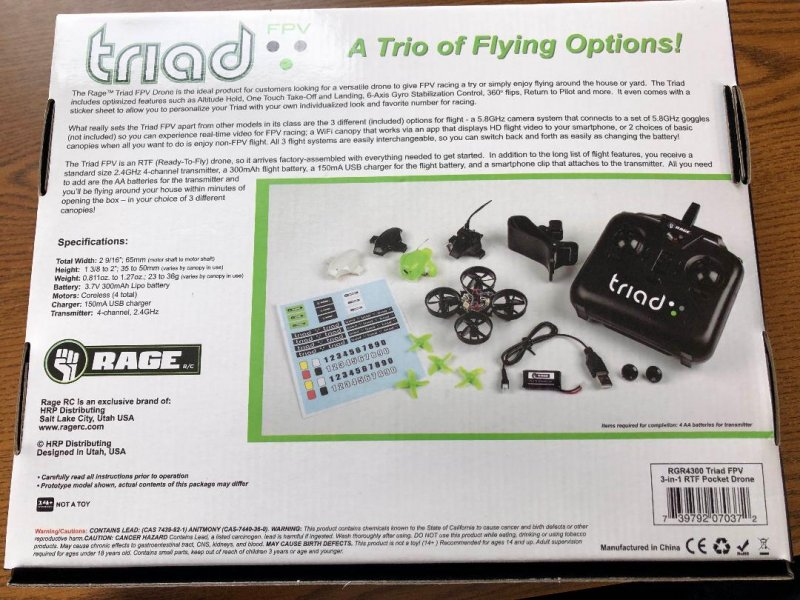Image 6 of Rage Triad FPV 3-in-1 Pocket Drone