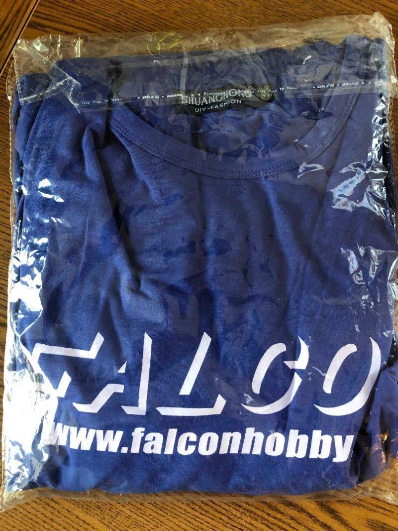 Image 0 of Falcon Blue w/white logo T-shirt 3XL