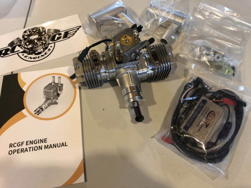 Image 0 of RCGF 30CC TWIN Cylinder  Gas Engine (New Stinger version)