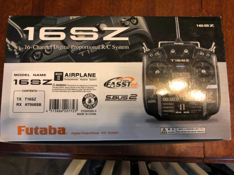 Image 4 of Futaba 16SZA 2.4GHz FASST Airplane Spec Radio System w/ R7008SB Receiver
