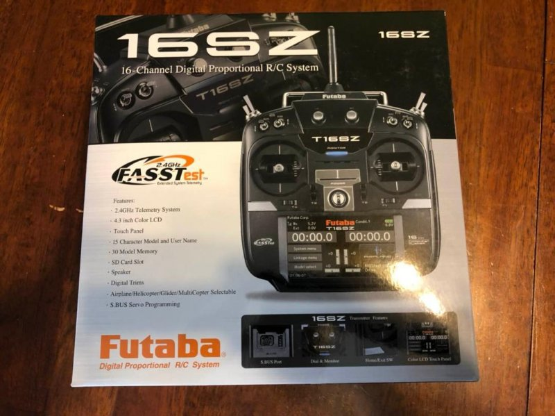 Image 0 of Futaba 16SZA 2.4GHz FASST Airplane Spec Radio System w/ R7008SB Receiver