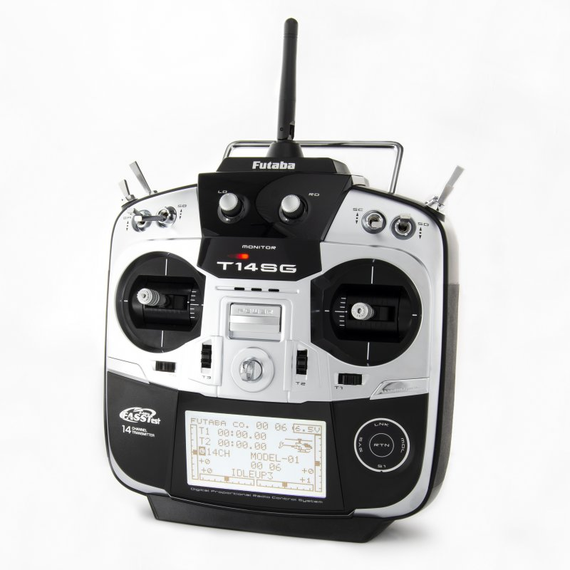 Image 4 of Futaba 14SGA 2.4GHz FASST Airplane Spec Radio System w/ R7008SB Receiver