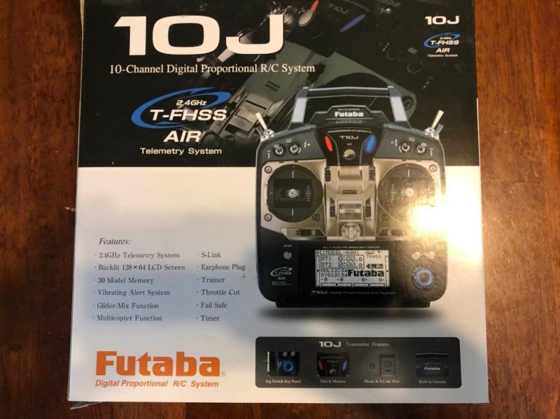 Image 1 of Futaba T10JA 2.4GHz T-FHSS Airplane Spec Radio System w/ R3008SB Receiver