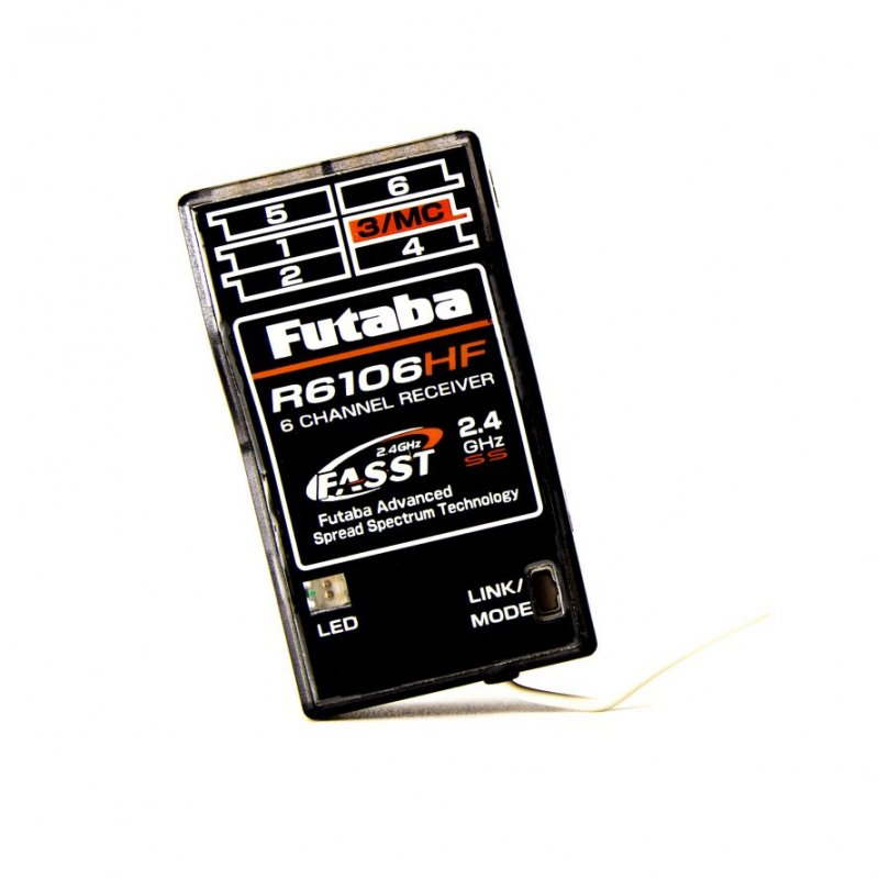 Image 0 of Futaba R6106HF 2.4GHz FASST 6-Channel Micro Receiver for Short Range Flight