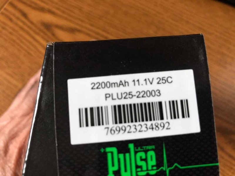 Image 1 of  PULSE 2250mAh 3S 11.1V 45C - LiPo Battery