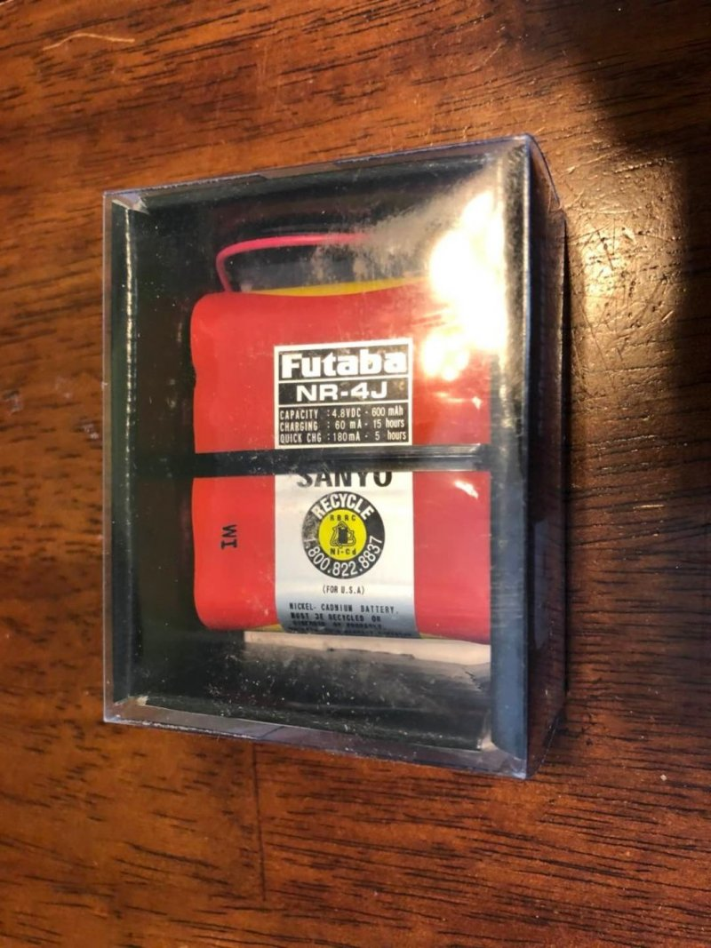 Image 0 of Futaba NR-4J 600mAh Flat Receiver Battery Pack (4-Cell)