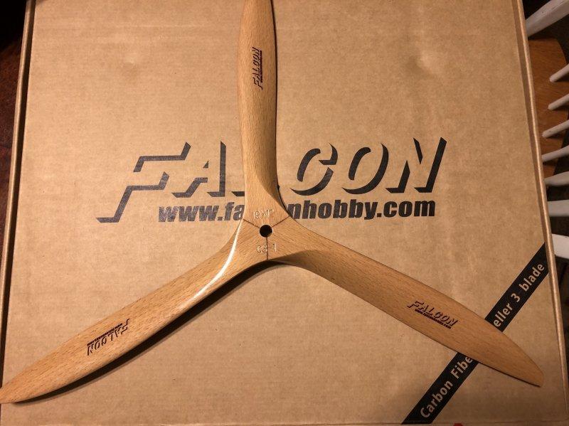 Image 3 of Falcon 3-Blade 19x12 German beechwood propeller