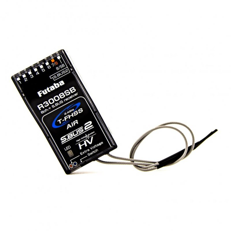 Image 1 of Futaba R3008SB 2.4GHz T-FHSS S.Bus High Voltage Telemetry Receiver