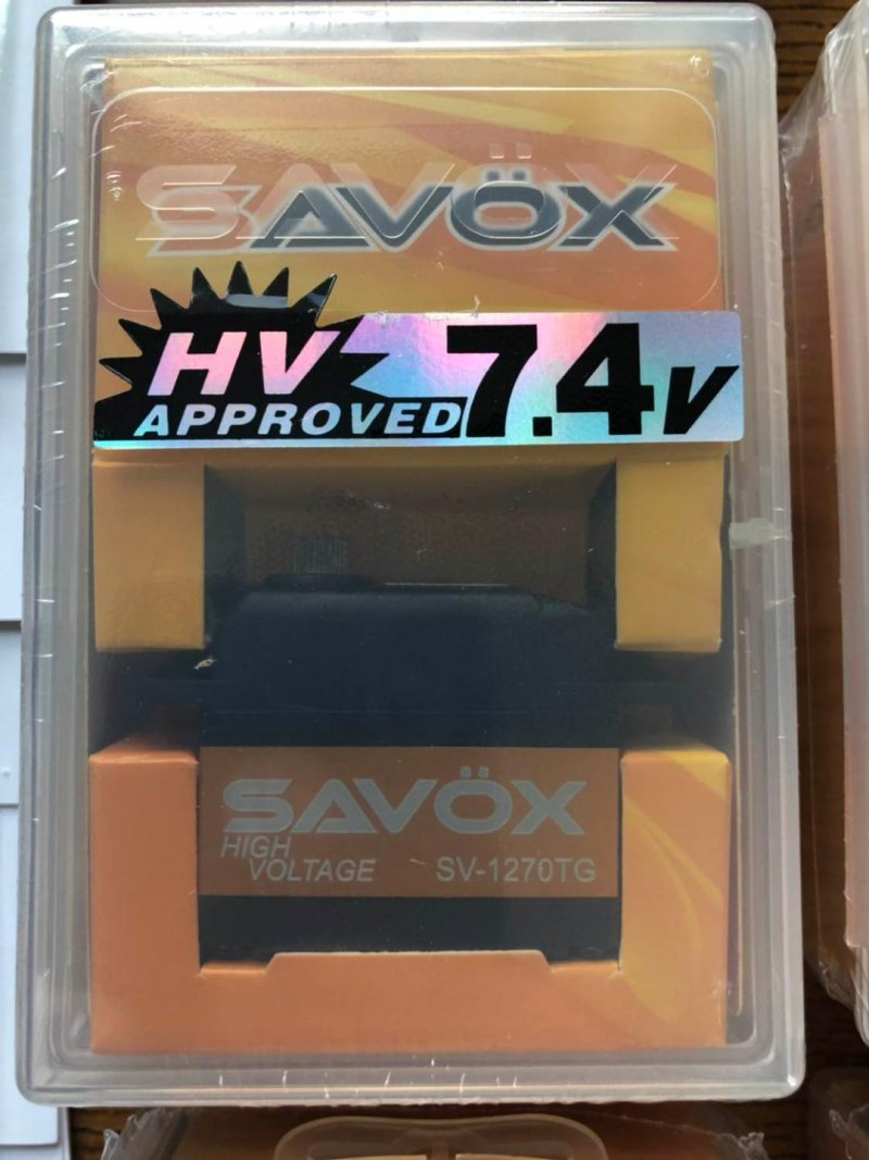 Image 1 of Lot of 2 Savox 1270TG HV CORELESS DIGITAL SERVO .11/486.1 STANDARD SIZE 7.4V