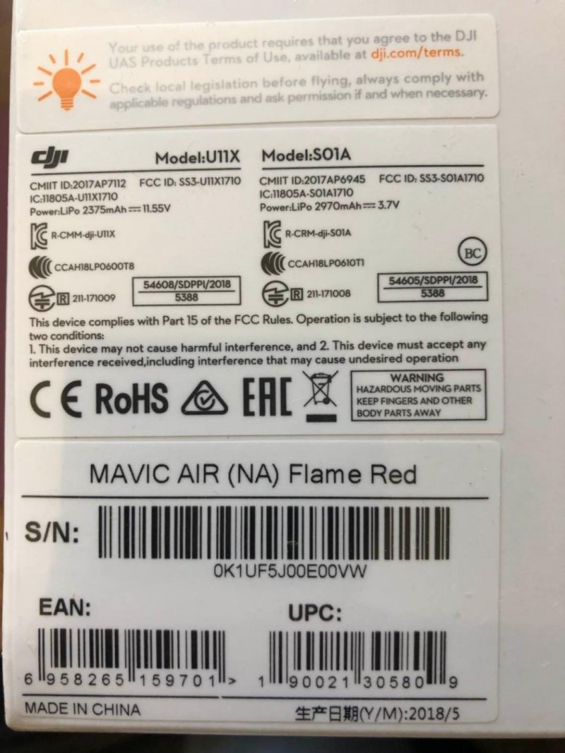 Image 1 of DJI MAVIC AIR RED
