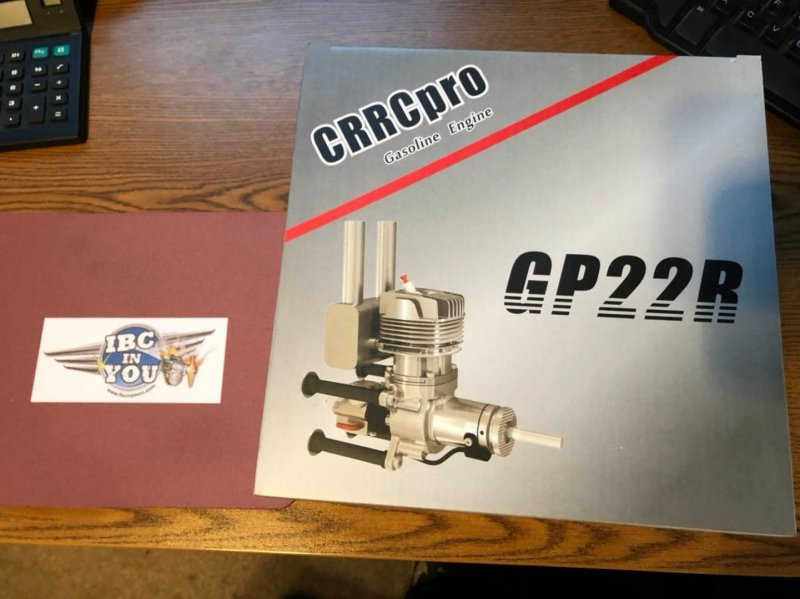 Image 1 of CRRC-PRO GP22R aircraft engine (gas) 2.6h.p. rear carb, rear exhaust