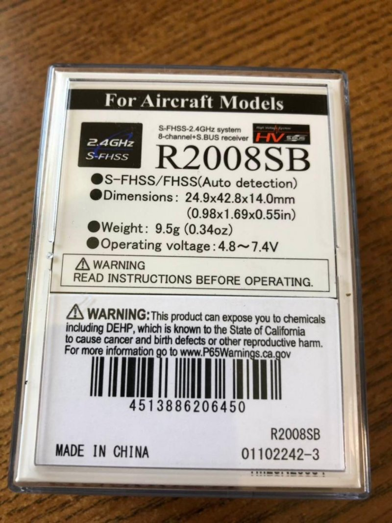 Image 2 of Futaba R2008SB 2.4GHz S-FHSS S.Bus High Voltage Receiver