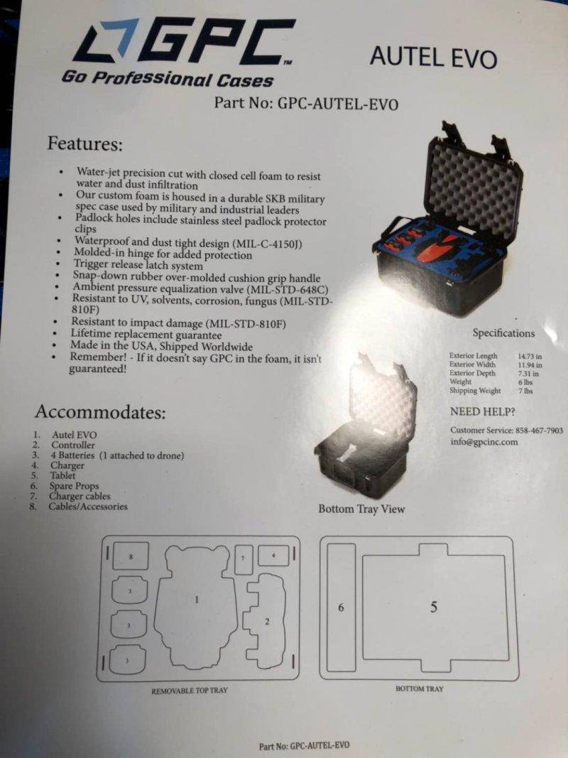Image 4 of Autel robotics Evo Rugged case
