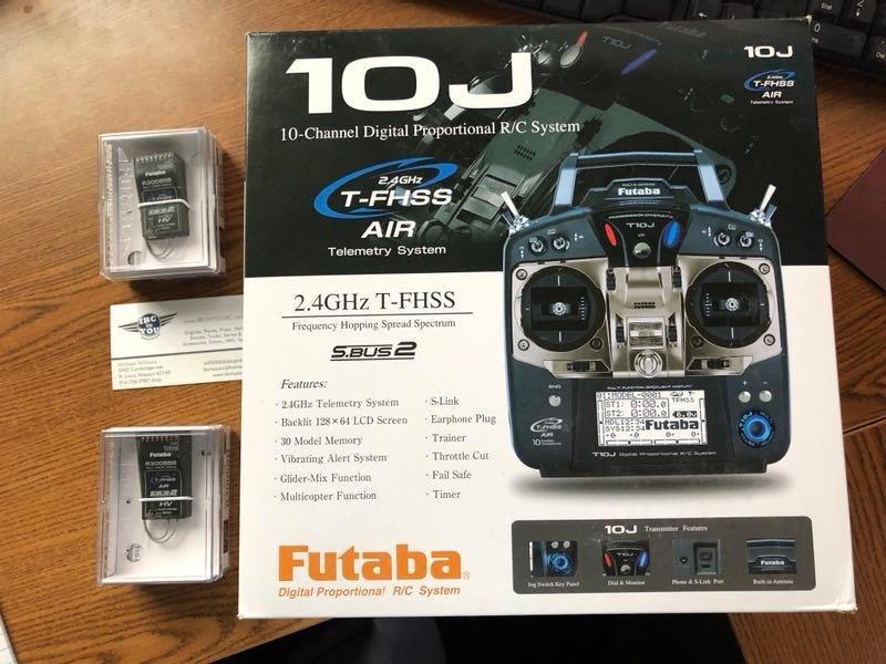Image 0 of Futaba T10JA 2.4GHz T-FHSS Airplane Spec Radio System w/ R3008SB +2 Free RX
