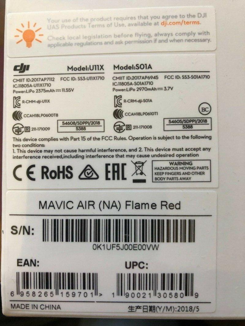 Image 1 of DJI Mavic Air RED with 2 extra batteries NIB