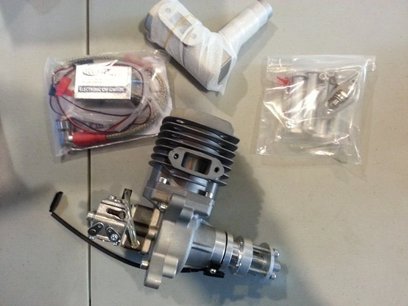 Image 0 of RCGF 56CC side exhaust r/c aircraft Gas Engine NIB