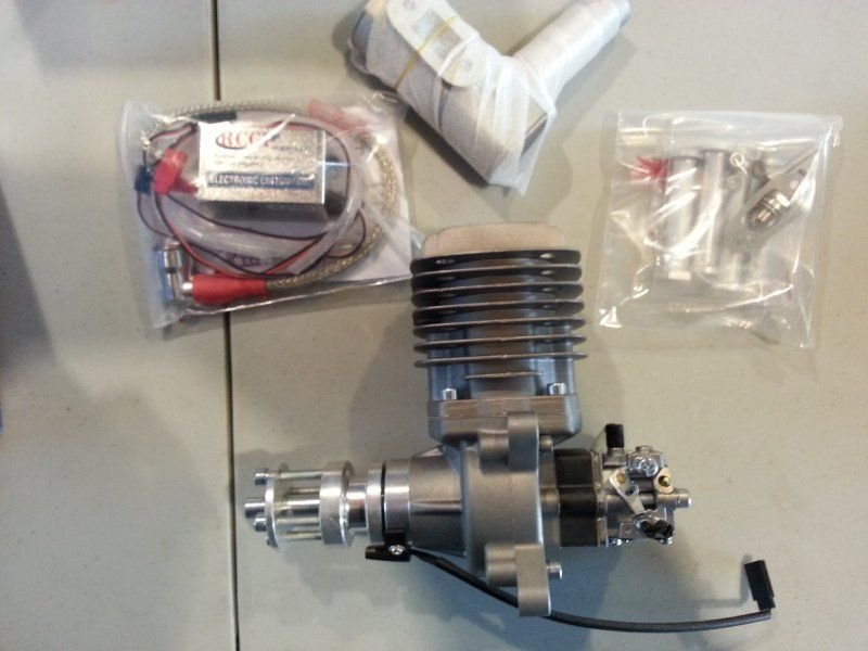 Image 1 of RCGF 56CC side exhaust r/c aircraft Gas Engine NIB