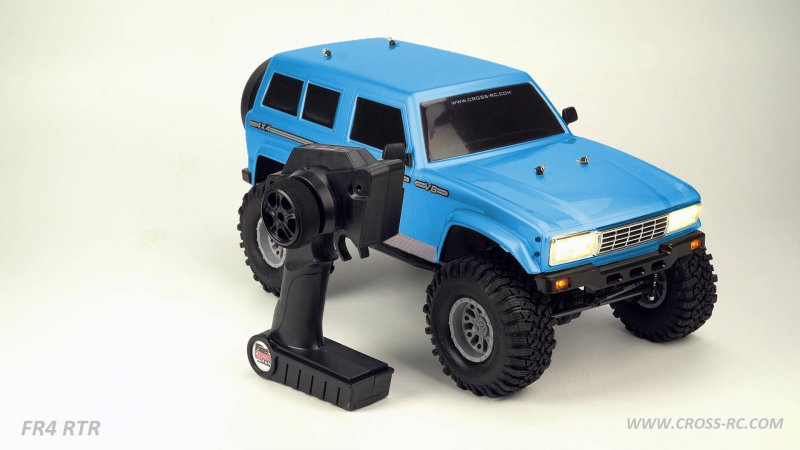 Image 0 of Cross RC FR4 1/10 Demon 4x4 RTR; No Battery or Charger - Blue