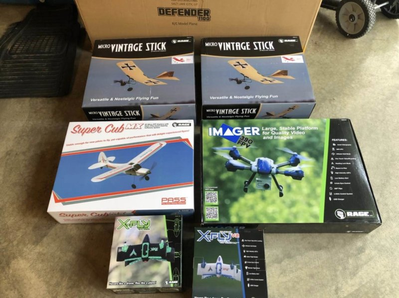 Image 0 of Rage  Imager drone, Xfly, vintage stick red
