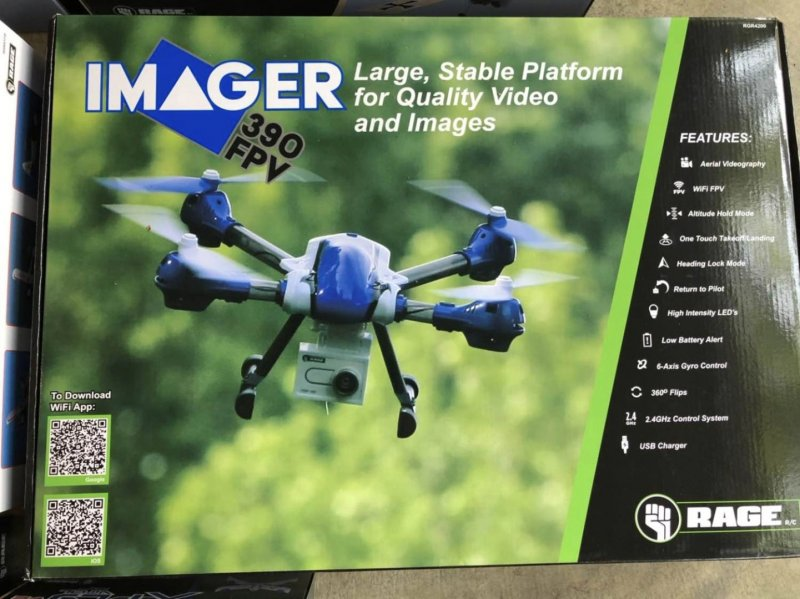 Image 3 of Rage  Imager drone, Xfly, vintage stick red