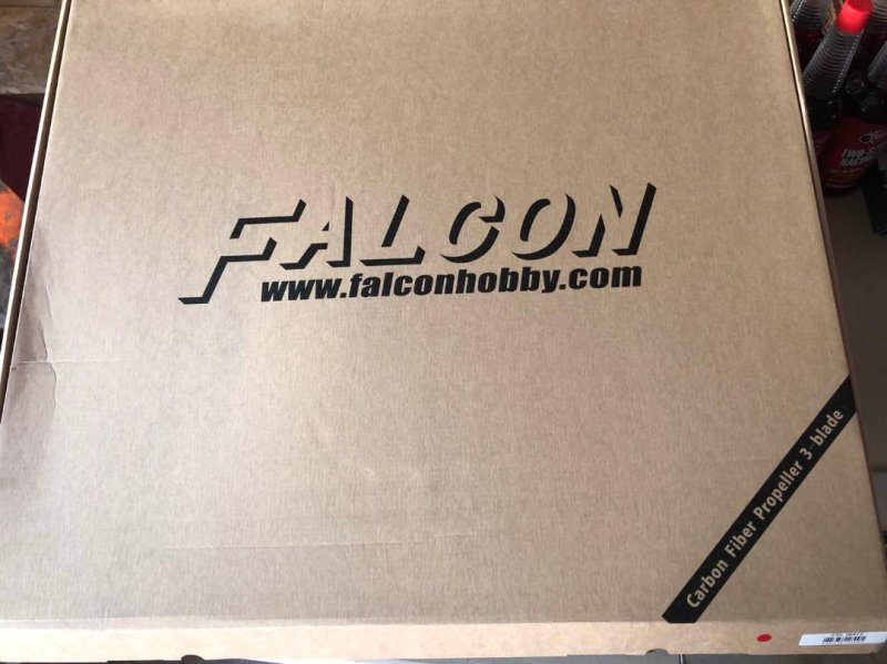 Image 2 of Falcon 26x12 3-blade w/neoprene prop covers, plus 5