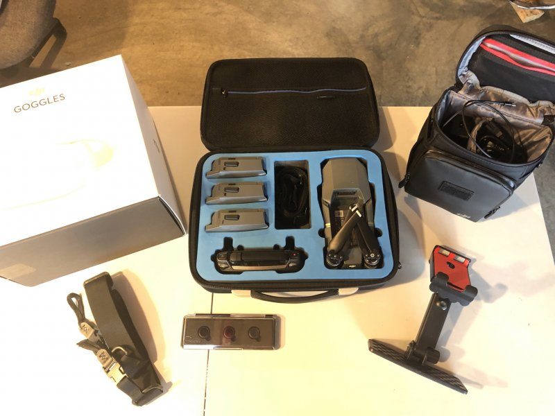 Image 0 of DJI Mavic pro with DJI goggles and case, soft case & 3 batteries complete