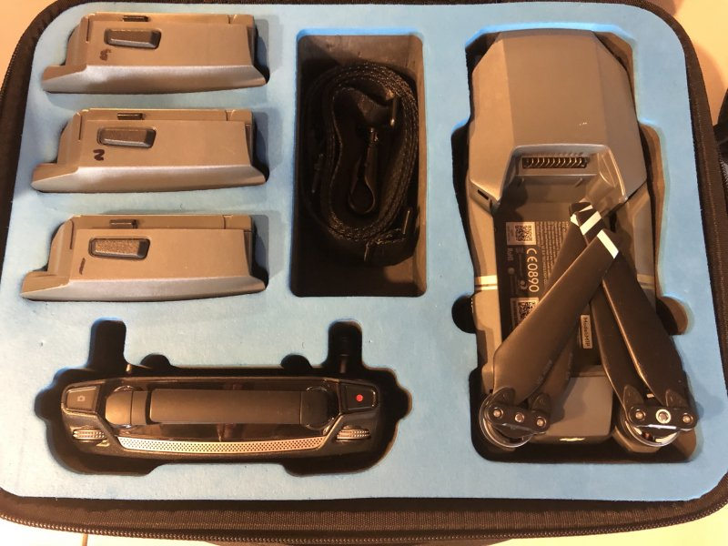 Image 1 of DJI Mavic pro with DJI goggles and case, soft case & 3 batteries complete