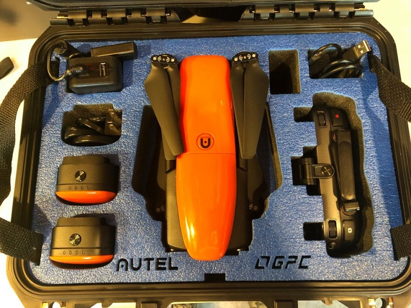Image 1 of Autel Evo drone 4K 60 frames per sec, with case, soft case & 3 batteries complet