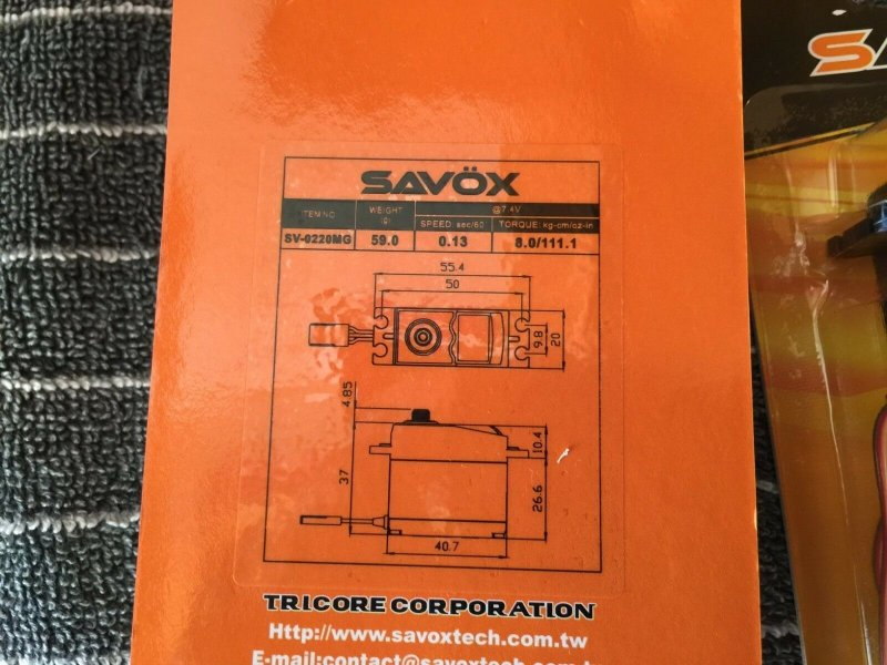 Image 7 of Fall SALE Savox 2290SG, 1270TG, 1230SG & 0220MG servos