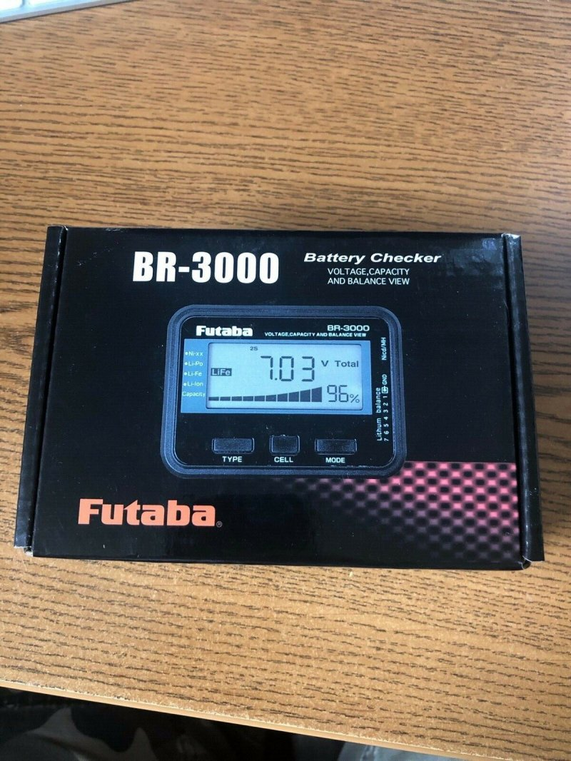 Image 0 of Futaba BR-3000 Battery/Balance Checker, for LiFe, LiPo, NiCd, & NiMh