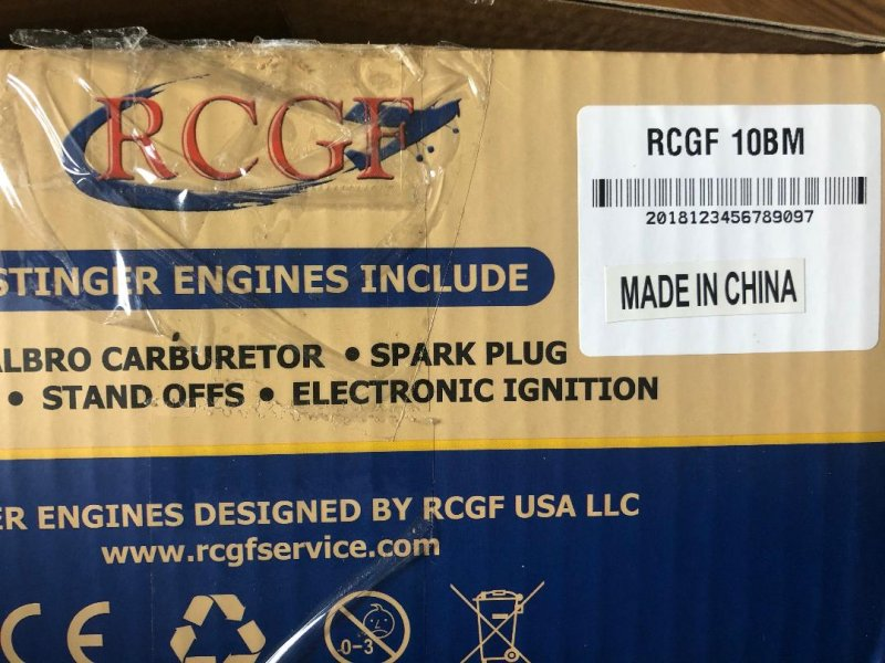 Image 1 of RCGF 10cc side exhaust r/c aircraft Gas Engine