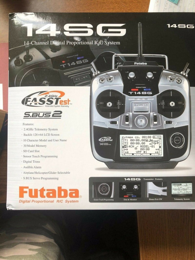Image 1 of Futaba 14SGA 2.4GHz FASST Airplane Spec Radio ONLY NIB