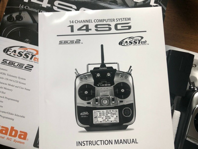 Image 3 of Futaba 14SGA 2.4GHz FASST Airplane Spec Radio ONLY NIB