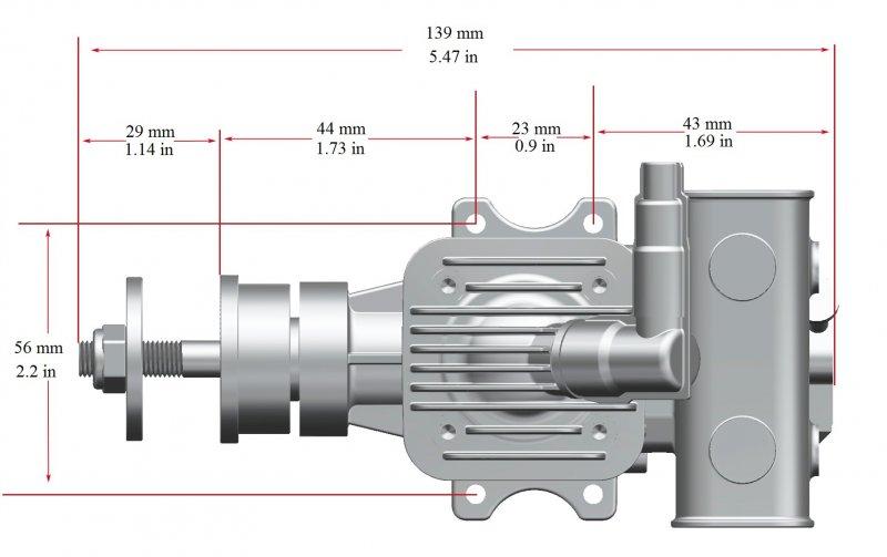 Image 9 of RCGF 10cc rear exhaust Stinger Gas Engine